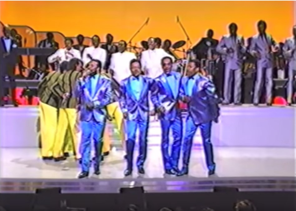 The Manhattans, Cadillacs, Drifters, Temptations & Four Tops – Battle of the Groups (@Apollo 1985)